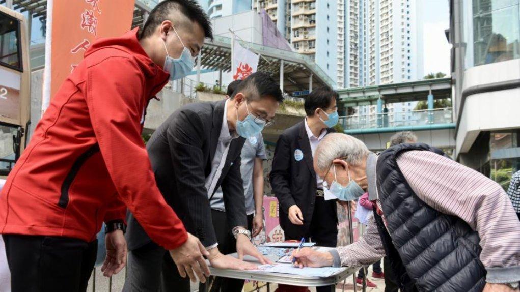 市民踴躍簽名 支持撥亂反正