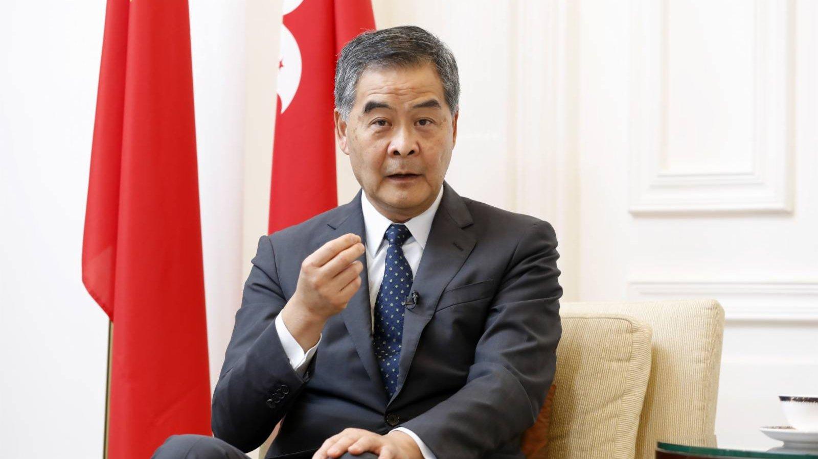 梁振英:不要低估中央和全國人民全面解決香港問題的決心