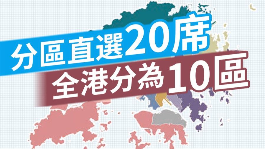 新選舉制度解析丨直選分10區 雙席單票制