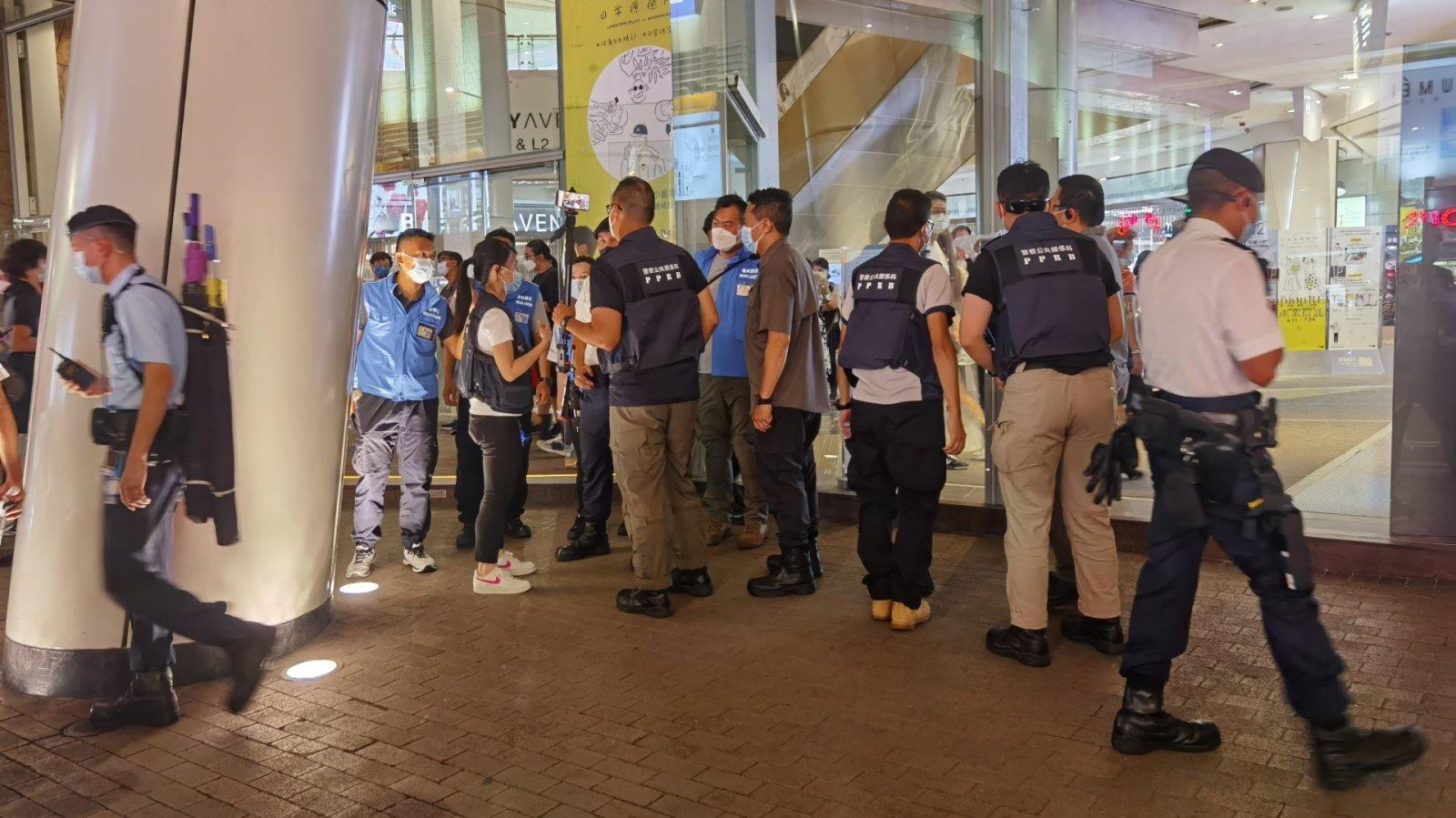 警旺角截查可疑人士 黑衣男涉行為不檢被捕