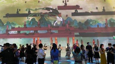 「遇見敦煌·光影藝術展」全球首展北京啟幕