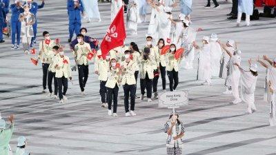香港隊東奧開幕式亮相!謝影雪張家朗持旗率隊入場