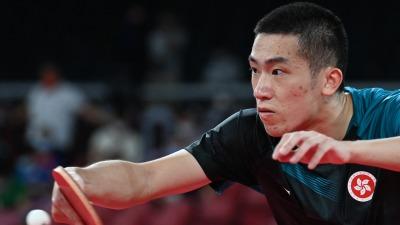 港隊乒乓球選手林兆恒男單晉級第三圈