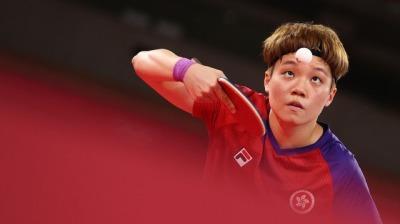 港隊杜凱琹4-1挫荷蘭選手 晉級乒乓女單8強
