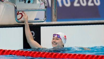 何詩蓓50米自由泳晉級準決賽 總成績排第15