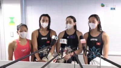 港隊止步女子4x100米混合泳接力賽 何詩蓓負傷完成最後一戰