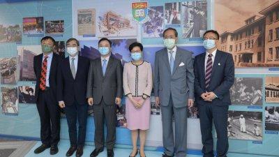 林鄭月娥到訪港大 讚港大專家在抗疫中擔當重要角色