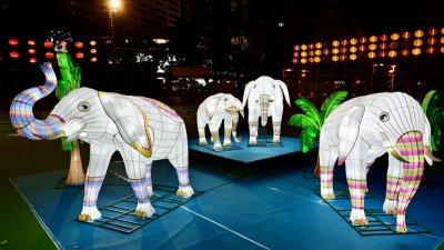 維園等地明起點亮中秋燈飾 迴旋木馬燈飾高達6米