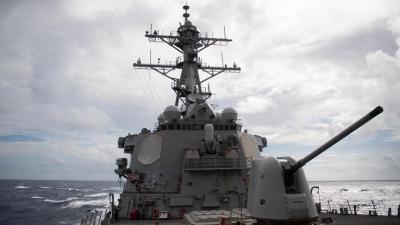 美艦第九次穿台峽 解放軍東部戰區全程警戒