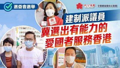 選委會選舉 建制派議員冀選出有能力的愛國者服務香港