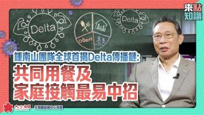鍾南山團隊全球首揭Delta傳播鏈:共同用餐及家庭接觸最易中招