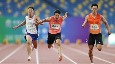 9秒95!男子百米飛人大戰 蘇炳添首奪全運會百米冠軍