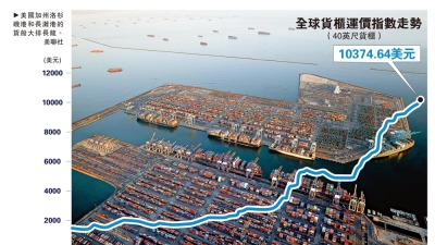 逾70貨船排長隊 加州港口大擁堵