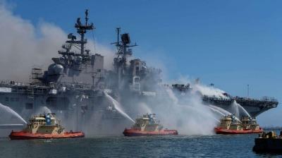 準航母是如何被燒廢的?美軍400頁報告披露連串失誤