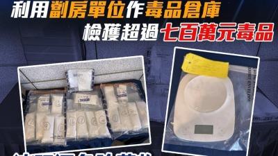 警萬聖節前嚴打毒窟 檢逾700萬元毒品拘3人