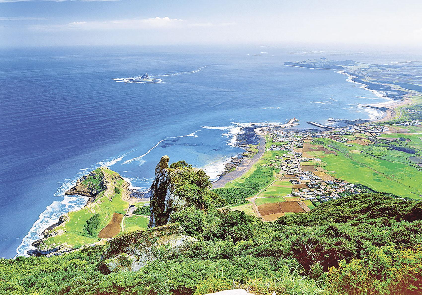 ■置身濟州島感受自然美十分愜意。