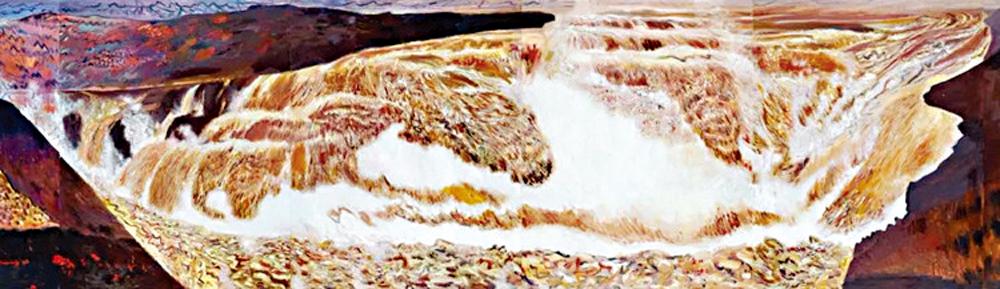 百米油畫「黃河魂」捐贈中國美術館