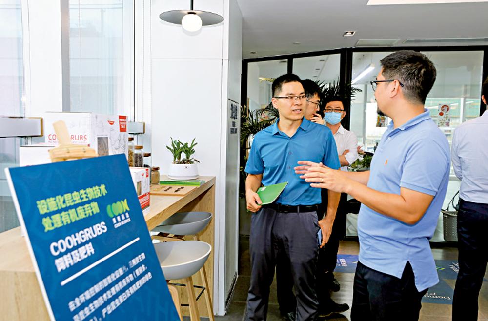 圖:「Z-Star」斑馬加速營創業團隊交流心得。\大公報記者郭若溪攝