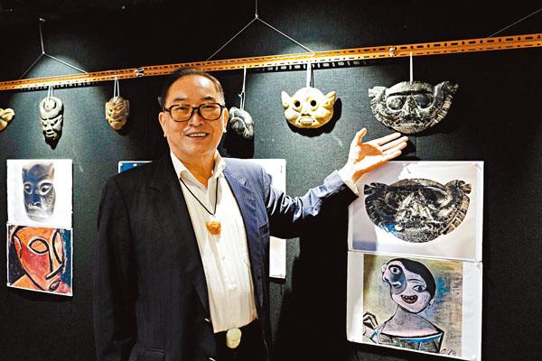 蕭聖寬 走遍世界搜羅逾500面具 冀推廣失落的遠古文化